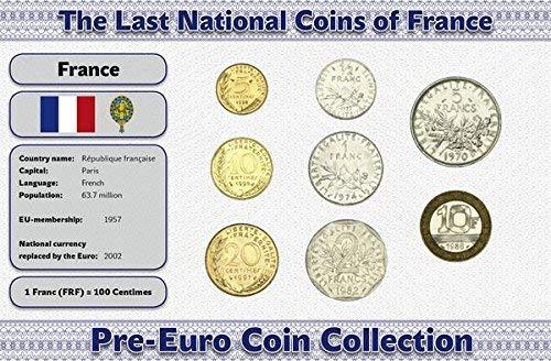 IMPACTO COLECCIONABLES Frankreich, 8 Münzen - Jahr 1960-2001 - Francs Blistercard