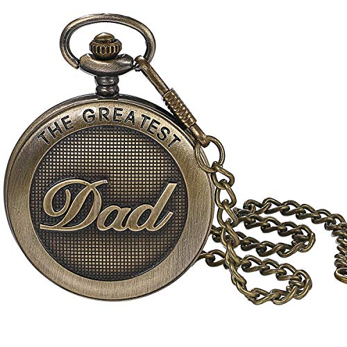 LANCARDO Taschenuhr Vintage Herren Damen Uhr Analog mit Kette Weihnachten Geschenk LCD100897-de (Dad Taschenuhr) (Dad Taschenuhr)