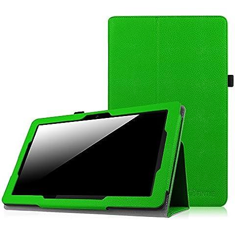 Dragon Touch X10 Funda - Fintie Folio Case Funda Cascara Delgada con Soporte para Dragon Touch X10 Tablet PC Android de 10.6 pulgadas, Verde