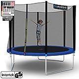 Kinetic Sports Outdoor Trampolin TPLH10 Gartentrampolin für Kinder und Erwachsene mit Randabdeckung...