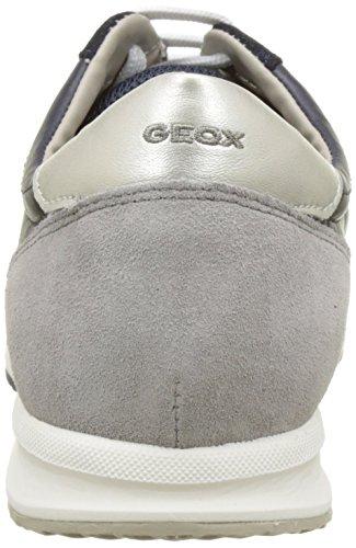 Geox D Avery B, Baskets Basses Femme Bleu (NAVYC4002)