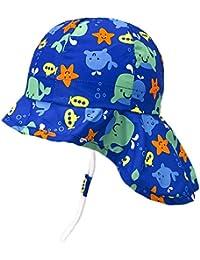 80cba4a39 UPF50+ Sombrero de Sol con Cubrenuca para Bebé Niños Niñas Anti-UV Gorro  Verano Gorrito para Playa, Natación,…