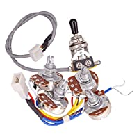 Fenteer 2x A500K Pots 2x B500K Potentiometer Circuit Wiring w/Switch for Guitar Accessory
