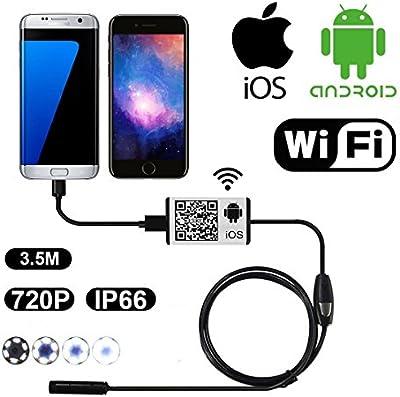 firstwish WiFi Wireless endoscopio Inspección Cámara OTG USB boroscopio impermeable Serpiente Cámara Espía Android iOS 6LEDs
