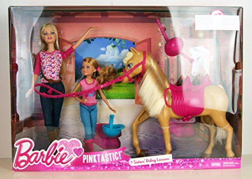 Barbie cct25–camping di divertimento bambola e cavallo