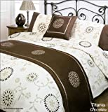 Titania Chocolate Single Duvet Quilt Bedding Set Bed in a Bag Cushion Cover Runner