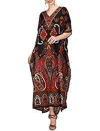 Tunique Caftan Kimono Robe Vêtements De Nuit Nightgown Femmes Été Soirée Maxi Longueur Fête Grande Taille 10 12 14 16 18 20 22 24 26 28