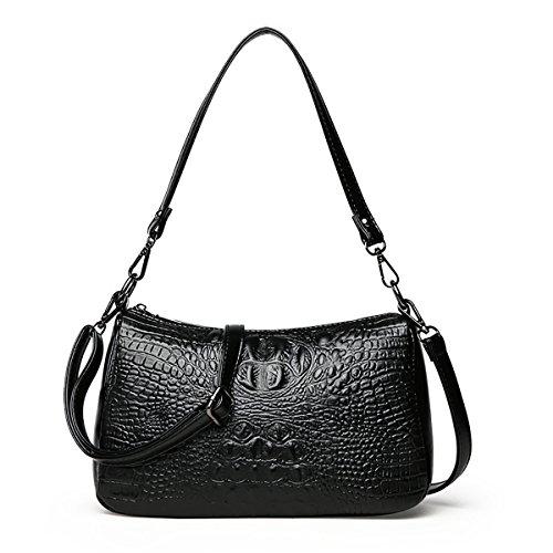 Tisdaini Damen Umhängetaschen krokodil handtaschen Mode Schultertaschen PU Leder Shopper -
