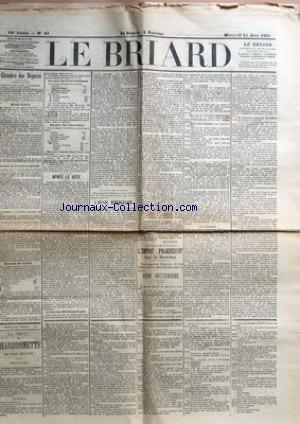 BRIARD (LE) [No 45] du 15/06/1898 - CHAMBRE DES DEPUTES