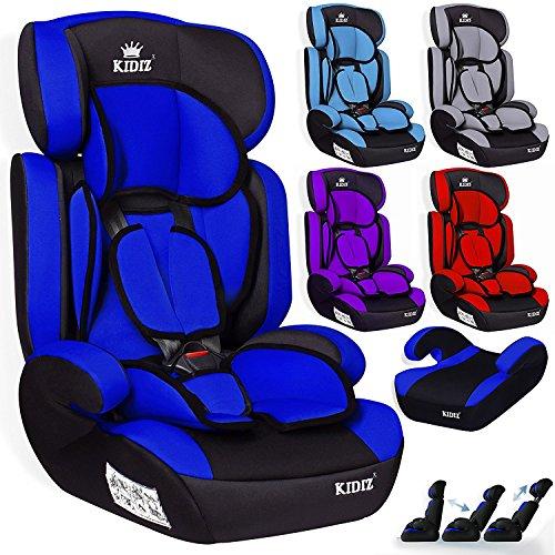 Kidiz Autokindersitz Autositz Kinderautositz 9-36 kg Gruppe 1+2+3 Kindersitz (Blau)