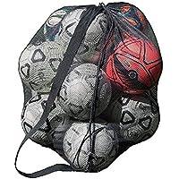 Yjzq extra grande, borsone impermeabile mesh Equipment, heavy duty net Ball tracolla tappeto palla da calcio basket pallavolo borsa tote Storage sacco con coulisse per 10-15palline