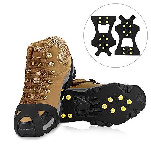 Schuhspikes , synmixx Schuhkrallen Traktion Anti-Rutsch Sohlen mit 10 Silikon Schuh Spikes für High...