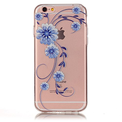 iPhone 6S Plus Hülle, iPhone 6 Plus Hülle, iPhone 6 Plus/6S Plus Silikon Schutz Handy Hülle Kratzfeste Tasche Handyhülle [Mit 1 X Frei Stylus Stift ], SainCat iPhone 6 / 6S Gel Case Weiche Bling Diama Orchidee