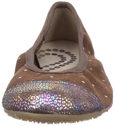 Living Kitzbühel - Ballerina Leopardenkappe, Pantofole Donna Marrone (Braun (290 dunkelbraun))