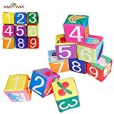 Baby Kleinkindspielzeug 9 Stücke Würfel Rasseln Stoffspielzeug Tiere Spielwürfel Frühkindliche Bildung,A