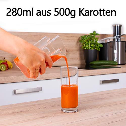Edelstahl Entsafter für Obst und Gemüse – 800 Watt kaufen  Bild 1*