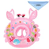UClever Baby Kleinkinder Krabbe Schwimmreifen Schwimmsitz Schwimmhilfe Schwimmring (Rosa)