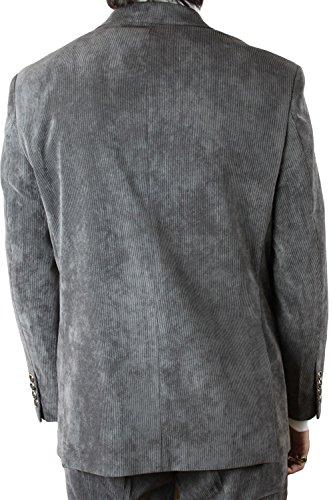 Kebello - Costume homme velours gris fines cotes Gris
