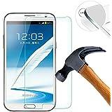 Lusee® Samsung Galaxy Note 2 N7100 Film de Protection écran en Verre Trempé ULTRA RÉSISTANT INDICE Dureté 9H Haute transparence( plus dure que un couteau) - il est vendu avec un torchon de nettoyage et alcool isopropilique