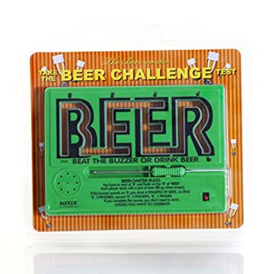 CKB LTD® Beer Nouveauté Beer Challenge Beat The Buzzer Jeu à Boire Electronic Maze Game - Idéal pour Les Parties