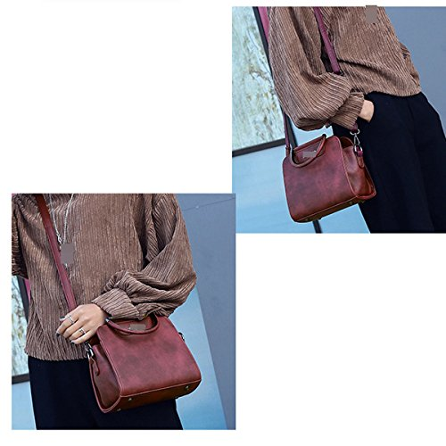 Lady Fashion Top-Handle Crossbody Spalla Della Borsa Del Messaggero Per Le Donne Multicolori Red