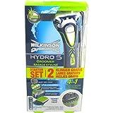 WILKINSON 4 in 1 Hydro5 Groomer Rasierer mit 2 Klingen Starter Set + elektrischer Barttrimmer