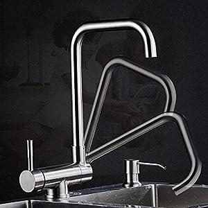 Fregaderos de cocina Grifos de agua caliente y fría Planos reversibles Ventanas sin parar Acero inoxidable 304 Ventanas…