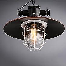 Adelaide - pequeñas jaulas de hierro candelabro industrial viento retro negro pequeño paraguas chandelier bar café chandelier