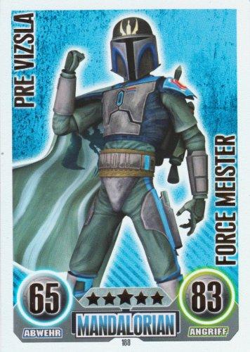 Star Wars Force Attax Einzelkarte 188 Pre Vizsla Mandalorian Force Meister deutsch