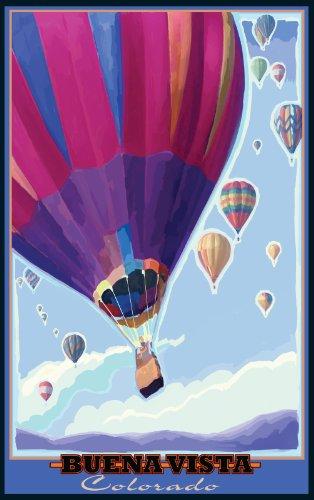 Northwest Art Mall Buena Vista Colorado Heißluftballons von Joanne Kollman, 28 x 43 cm