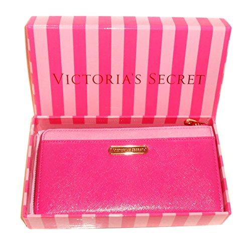 new-genuine-victorias-secret-womens-zip-around-purse-wallet-gift-boxed-pink