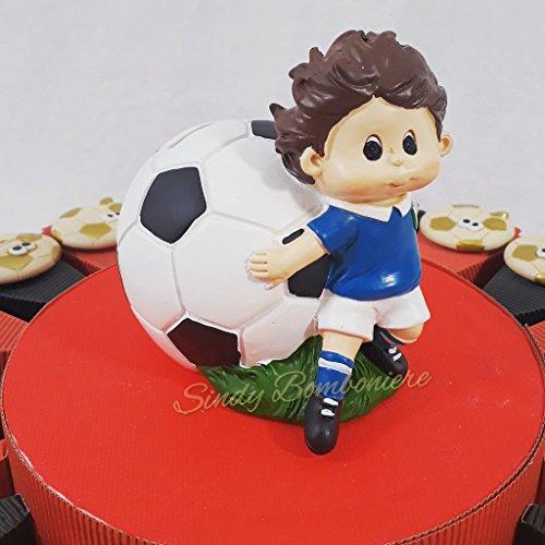 Torta bomboniere pallone magnete calcio squadra del cuore nascita, battesimo, comunione, cresima, compleanno (centrale confezionato)