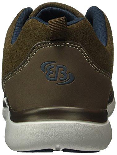 Brütting Dallas, Baskets Basses Homme Marron (Braun/marine)