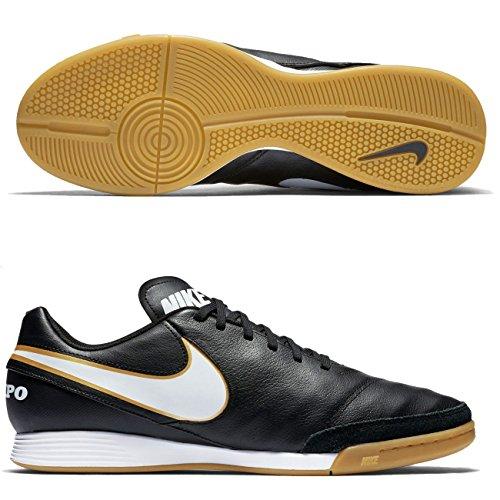 Nike Tiempo Genio Leather II Hallen Fußballschuhe Black