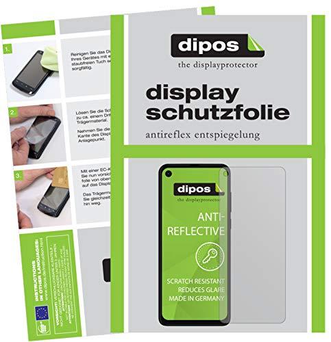 dipos I 2X Schutzfolie matt passend für Motorola One Vision Folie Bildschirmschutzfolie (bewusst Kleiner als das Glas, da Dieses gewölbt ist)