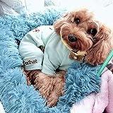 YXZQ Warmes, beruhigendes Hundebett, rundes Kuschelnest mit Kunstfellkissen, Hundesofaauflagen, Schlafkörbchen, waschbar für Katzenhunde im Winter, dunkelblau, 70 cm