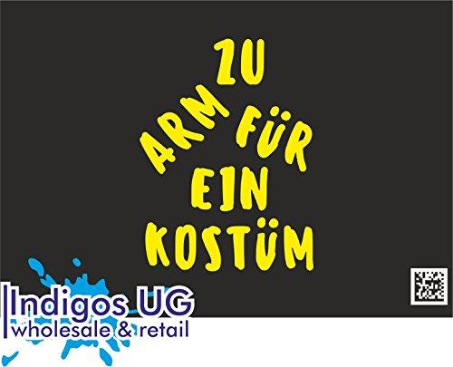 INDIGOS UG Aufkleber Autoaufkleber - JDM Die Cut - Fasching Halloween Kostüm Karneval Köln Düsseldorf - 130x100mm gelb Auto Laptop Tuning Sticker Heckscheibe - Lustige Frau Halloween Kostüme