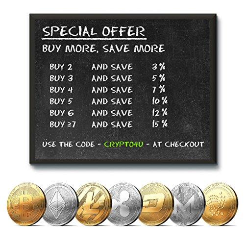 Physische Ethereum Münze mit 24-Karat Echt-Gold überzogen. Wahres Sammlerstück mit Schutzhülle, Münzkapsel. Ein Muss für jeden Ethereum-Fan + GRATIS E-Book gegen Cyber-Attacken - 3