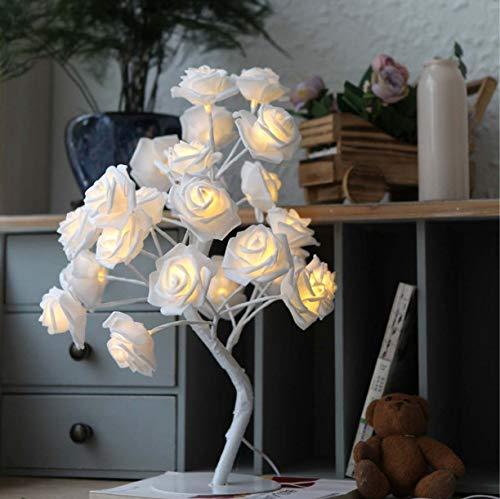 Lámpara de mesa LED rosa luz de noche iluminación interior interior dormitorio decoración boda fiesta joyería blanco
