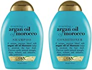 Organix OGX Moroccan Argan Oil Shampoo and Conditioner Combo Pack (385ml X 2)