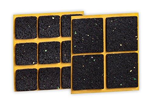 peha® Anti-Rutsch-Pad (Rutschhemmer für Möbel, Sofas, Tische), selbstklebend, SET eckig (13-teilig)