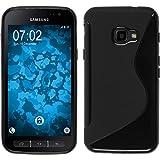 PhoneNatic Case für Samsung Galaxy Xcover 4 Hülle Silikon schwarz S-Style + 2 Schutzfolien