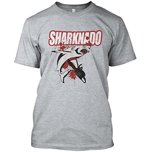 net-shirts Sharknado T-Shirt, Größe M, Graumeliert