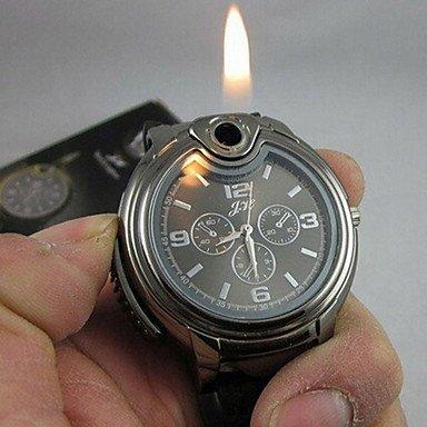Schöne Uhren, Cool 2-in-1-Quarzuhr + Butanflamme Feuerzeug (verschiedene Farben) ( Farbe : Schwarz , Großauswahl : Einheitsgröße )