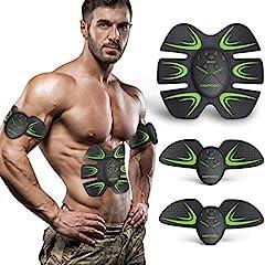 Idea Regalo - HOPOSO Elettrostimolatore per Addominali,Elettrostimolatore Muscolare Professionale, Stimolatore Muscolare 2 in 1 Massager EMS Addominali Trainer Elettrico per Braccia Elettrostimolatore Glutei