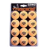 GEWO Unisex- Erwachsene 3-Stern Tischtennisball im handlichen 12er Pack...