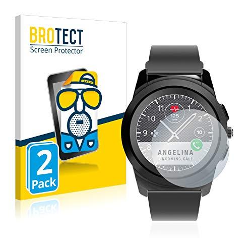 BROTECT Entspiegelungs-Schutzfolie kompatibel mit MyKronoz ZeTime Regular (44 mm) (2 Stück) - Anti-Reflex, Matt