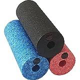 diMio Mini-Epp Hartschaum für Unterwegs Oder bei Der Arbeit Faszienrolle, in 3 Farben und Härtegraden - Schwarz (sehr hart), Rot (hart), Blau (mittlere Härte), 15x5.4cm (Blau (mittlere Härte))