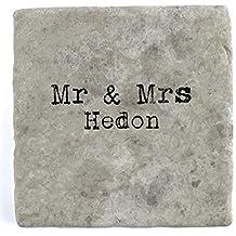 Mr & Mrs Hedon – Posavasos para azulejos de mármol, ...