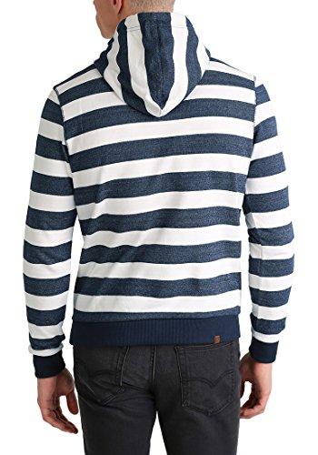 BLEND Crombie Herren Kapuzenpullover Hoodie Sweatshirt in Streifenoptik aus 100% Baumwolle Navy (70230)